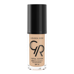 Golden Rose - GR Total Cover 2in1 Foundation&Concealer - 2'si 1 Arada Fondöten Ve Kapatıcı