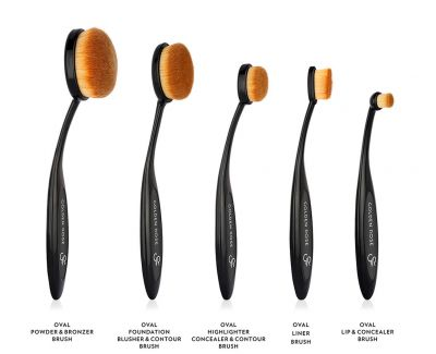 OVAL FOUNDATION, BLUSHER&CONTOUR BRUSH